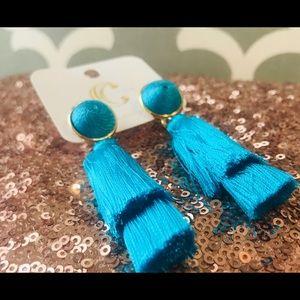 Jewelry - Turquoise Thread Earrings